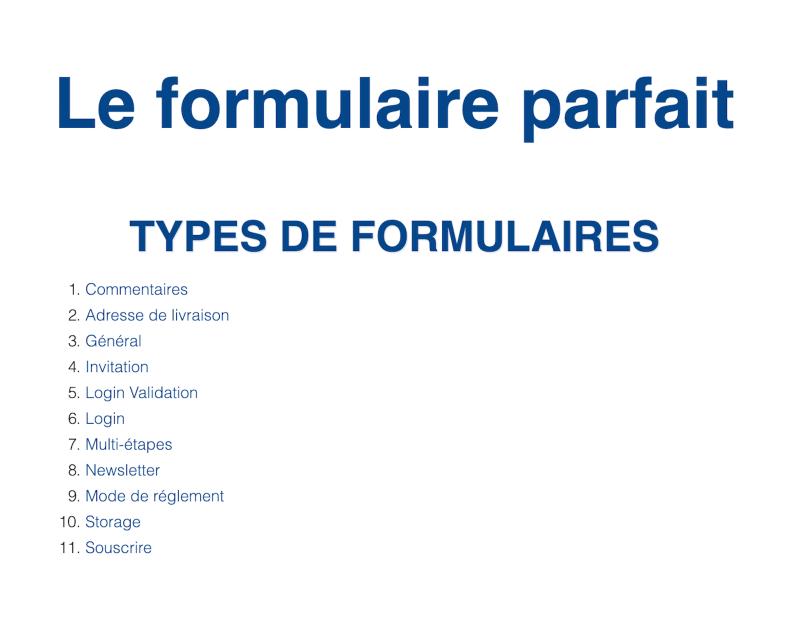 Atelier Paris Web 2018 - Le formulaire parfait - Paris Web 2018