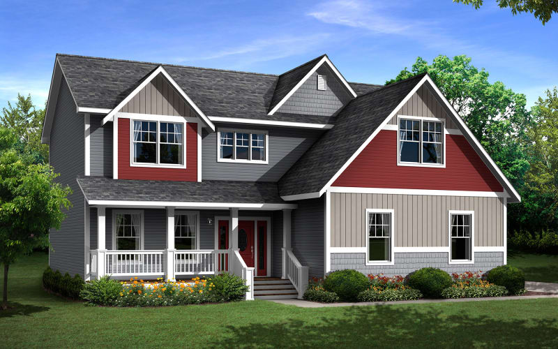 The Rockport Two-Story Modular Home Elevation