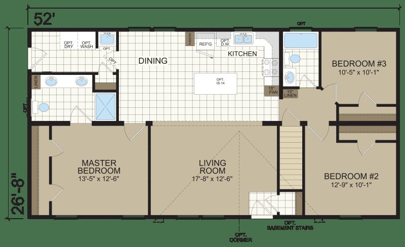 Merit Modular A-95075 - Redman Homes | Champion Homes