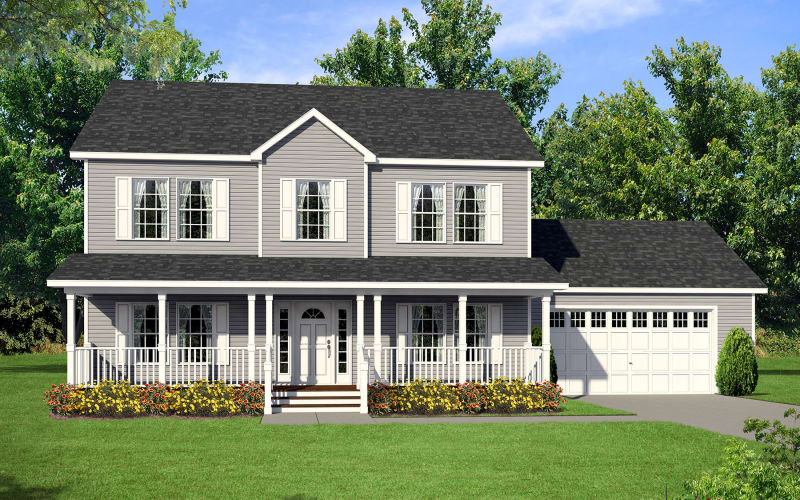 Estate Modular A93676 Two-Story Home Elevation