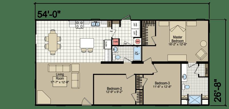 RH4543A Homes of Merit Champion Homes