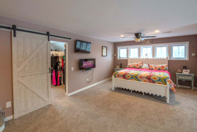 The Lakeport master bedroom