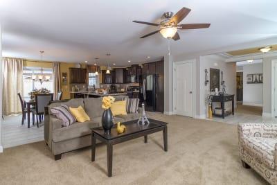 New Era Chataqua living room and kitchen