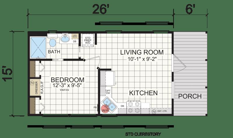 APS 601 - Athens Park Model RVs | Champion Homes
