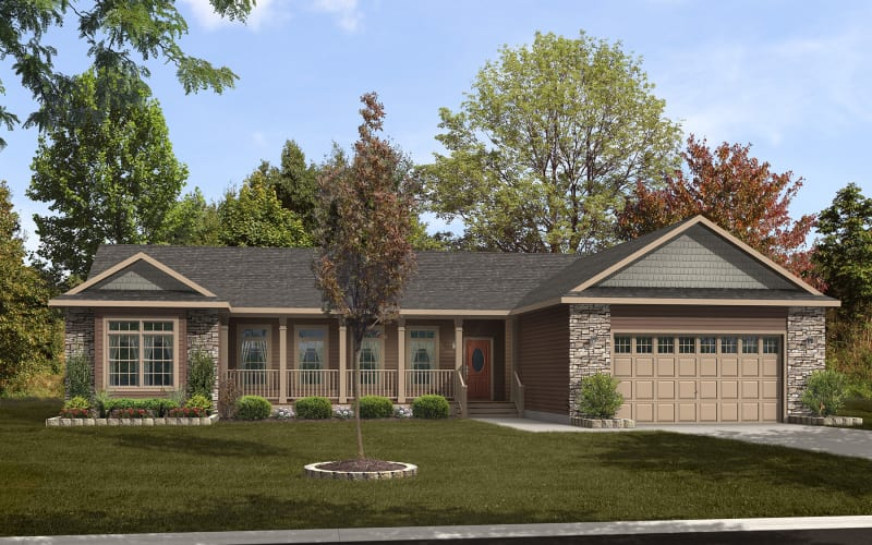 Hampton Optional Elevation with Garage by Others