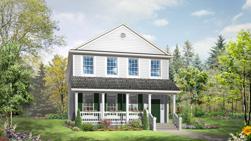 Fitzgerald elevation with site-built porch by others