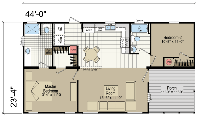 RH3442A Homes of Merit Champion Homes
