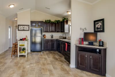 Cimarron Classic 1207 entertainment center and kitchen