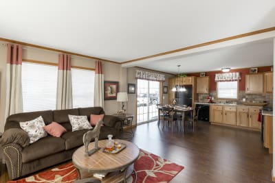The Manning 506 living room and kitchen