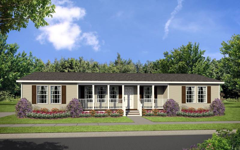 Dutch 3256 Elevation with Recessed Front Porch