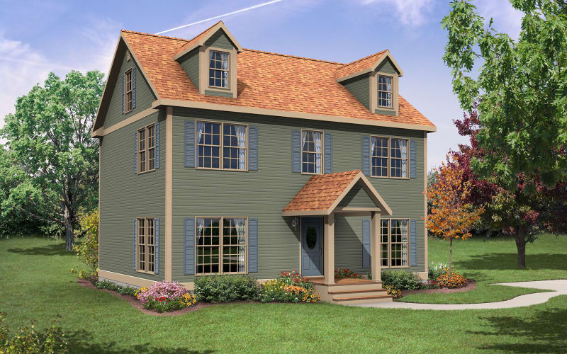 The Kenton Two-Story Modular Home Elevation