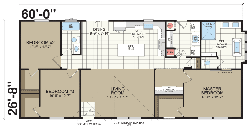 New Moon A46026 Redman Homes – Redman Mobile Home Floor Plans