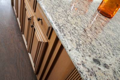 Silvercrest Kingsbrooks, California - kitchen island countertop and cabinets