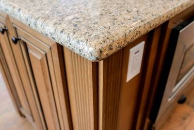 Silvercrest Craftsman, California - kitchen island countertop, cabinets