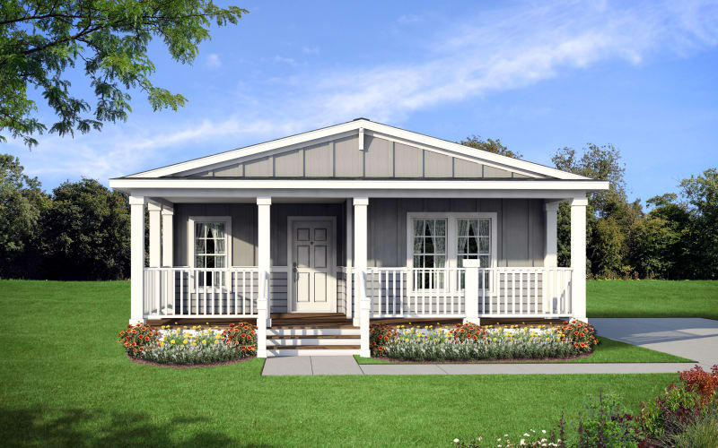 HOMC 4523A exterior with full porch option