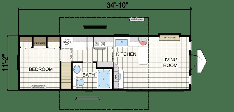 APH 528 - Athens Park Model RVs | Champion Homes