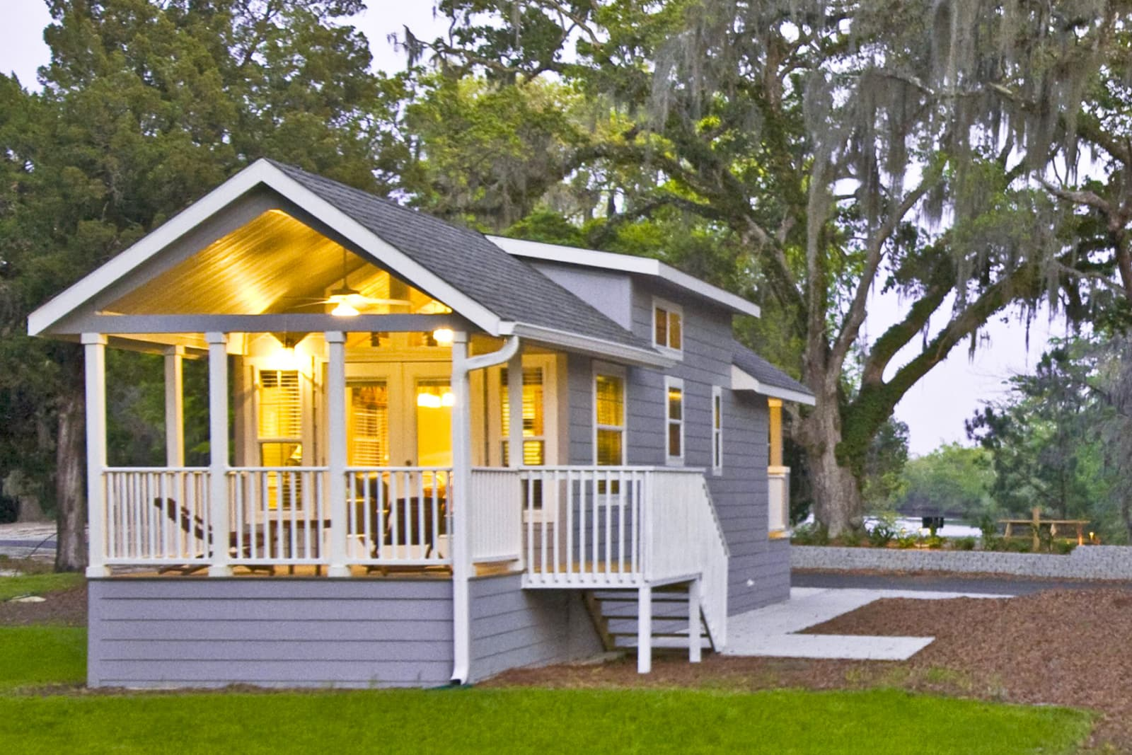 Tiny House With Porch Park Model Rvs Champion Homes