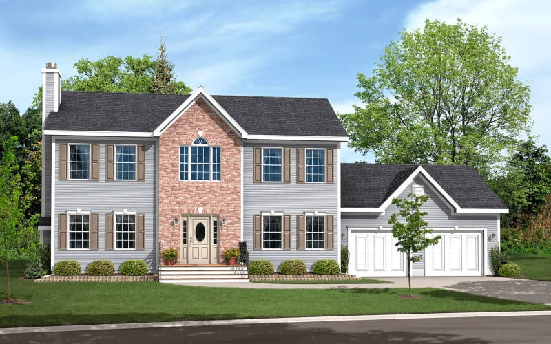 The Weatherford Two-Story Modular Home Elevation
