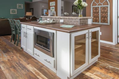 New Era Mulberry kitchen island