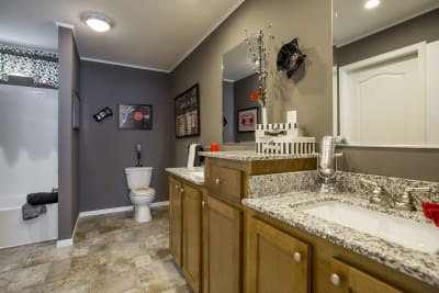Highland Estates 2854-3L master bath