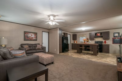 RM2852A by Redman Homes living room and kitchen