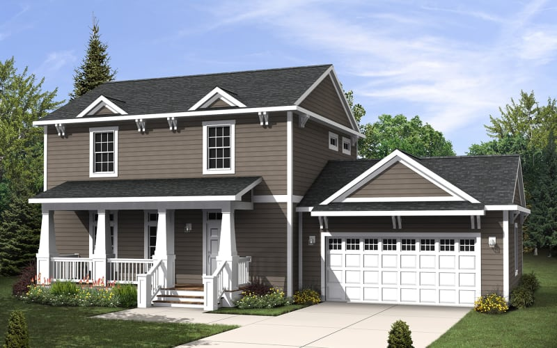 Bristol Elevation - Two-Story Modular Home