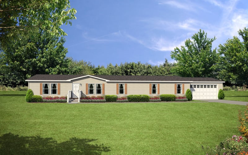 Central Great Plains 876 Manufactured Home Elevation