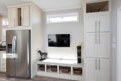 entertainment center closet