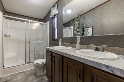 The Taylor 701A master bathroom