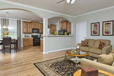 Atlantic Modular 879 living room and kitchen
