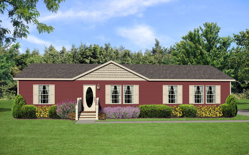 Impressions A95678 Exterior Elevation with Dormer