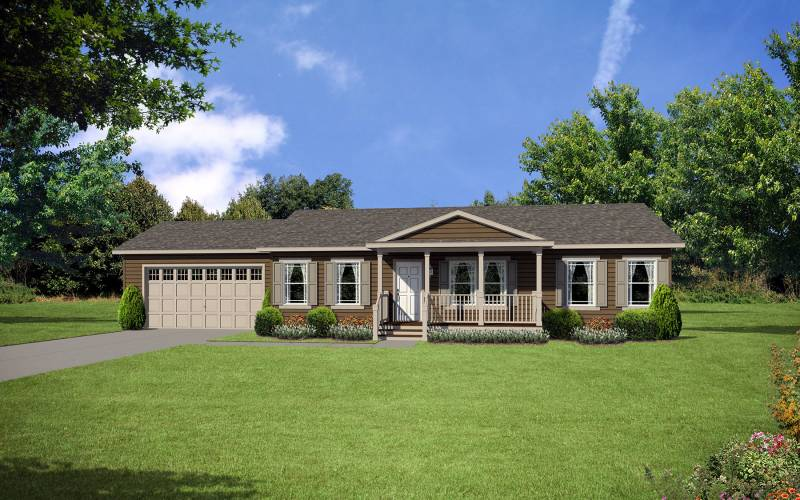 Lifestyle-D42 Manufactured Home Elevation