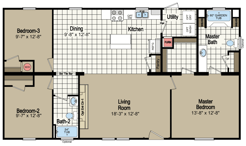 Amelia H4483A Homes of Merit Champion Homes