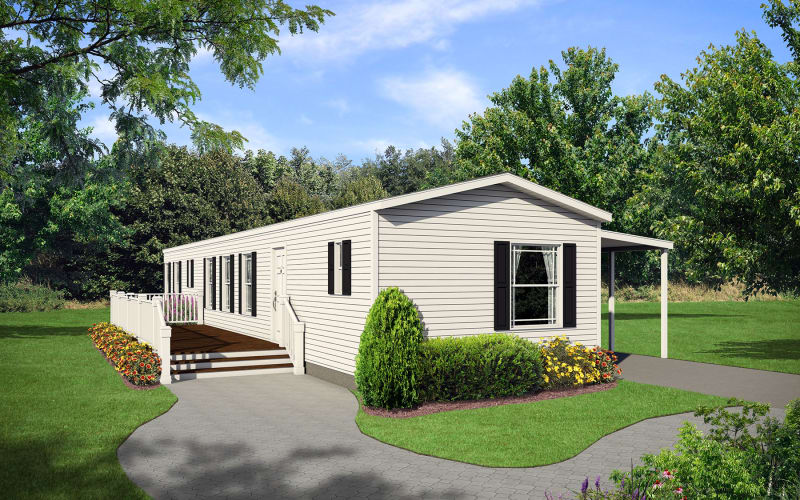 Sommerset-800 Single Wide Elevation with porch