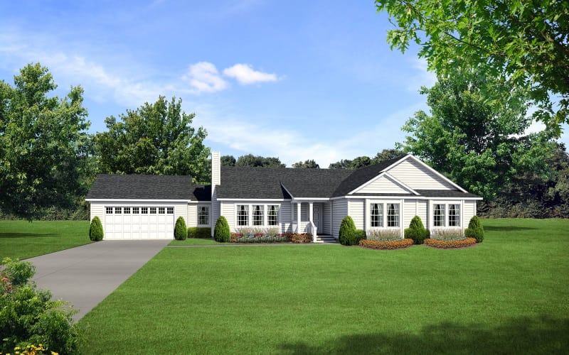 Barclay-6445-Optional-7-12-Roof-Pitch-with-Site-Built-Porch-Garage-by-Other