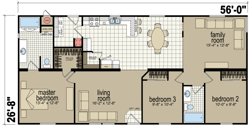 Champion Floor Plans   Creekside Manor 4563s Redman Homes Champion Homes