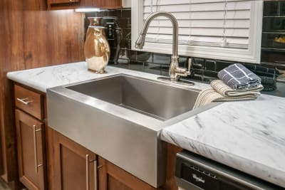 Cimarron 3264R Ultimate Kitchen Two stainless steel sink and faucet