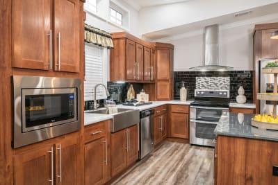 Cimarron 3264R Ultimate Kitchen Two Whirlpool appliances