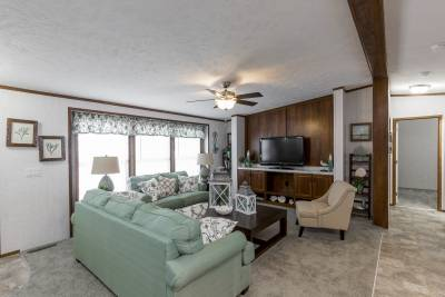 The Taylor 701A living room with entertainment center