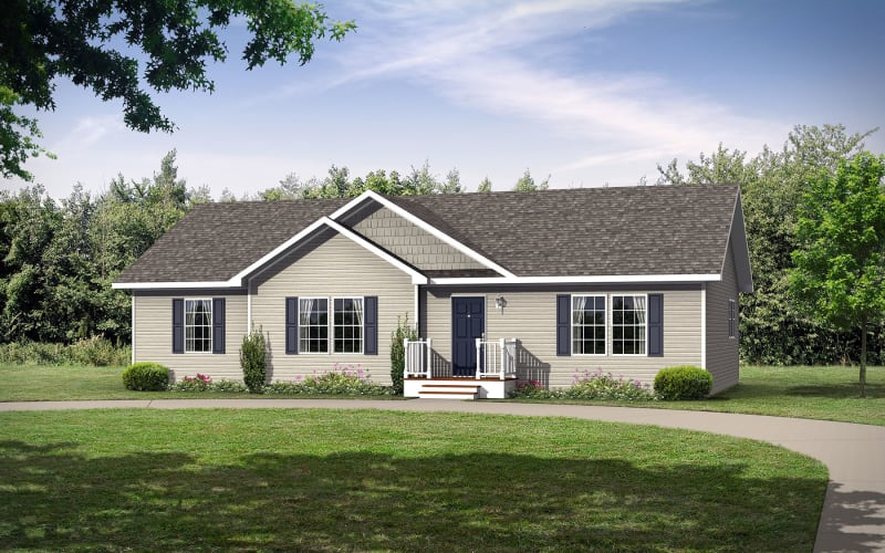The Whitley Ranch Style Modular Home Elevation
