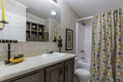 The Newton 702B bathroom
