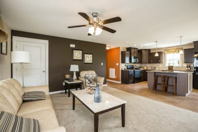 New Era Beckley living room and kitchen