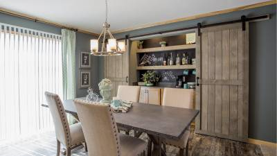 Highland Manufacturing, mobile home builder, dining room