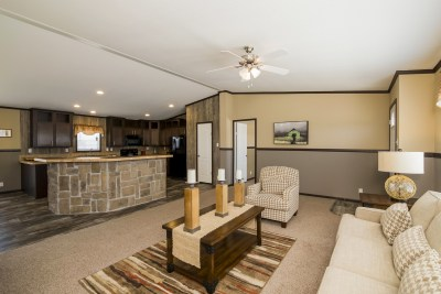 Paluxy living room and kitchen