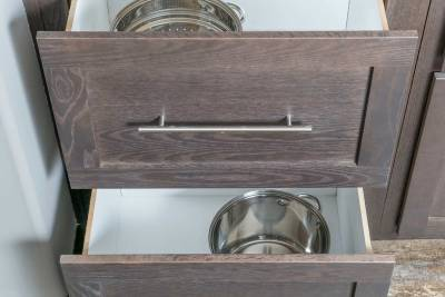 North American Housing, Ultimate Kitchen Two, large pots and pans drawers