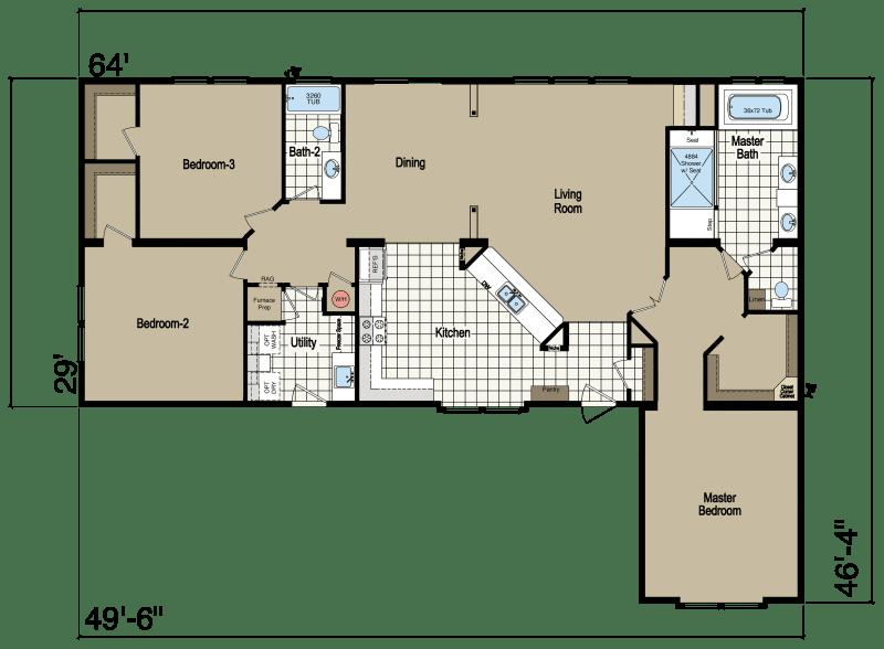 Bay Manor Modular BM722 Homes of Merit Champion Homes
