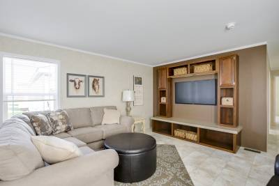 Foundations F76 living room with optional entertainment center