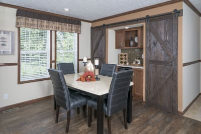 CDC 2864 dining room and optional butler's pantry with barn doors