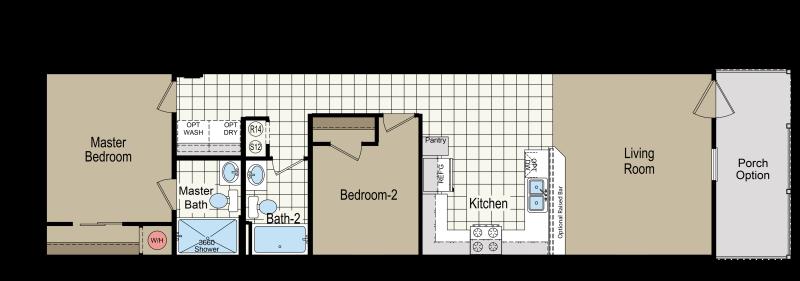 2 Bedroom Park Model Homes | Rh2542a Homes Of Merit Athens Park Models Rv