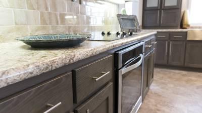 Shaker style drawers and brushed nickel hardware